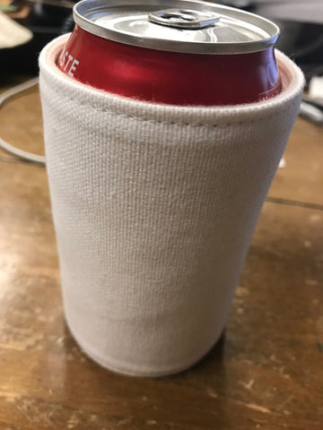 made in USA canvas Koozie