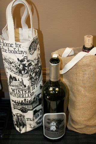 Silver Oak Wine and tote bag