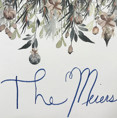 handwritten family name for holidays