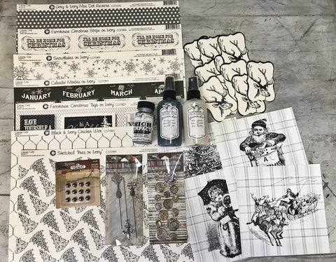 canvas corp holiday black and white kit