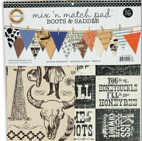 western themed paper pack