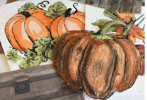 pumpkin watercolor art