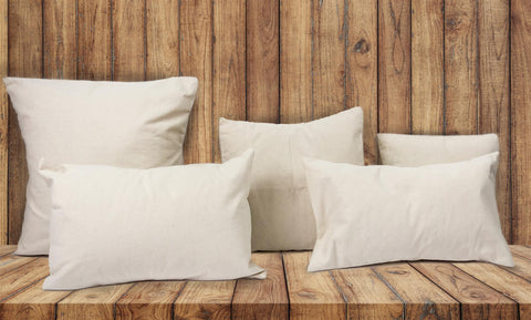 blank canvas pillow