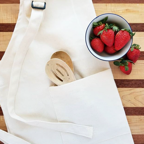 blank canvas kitchen apron