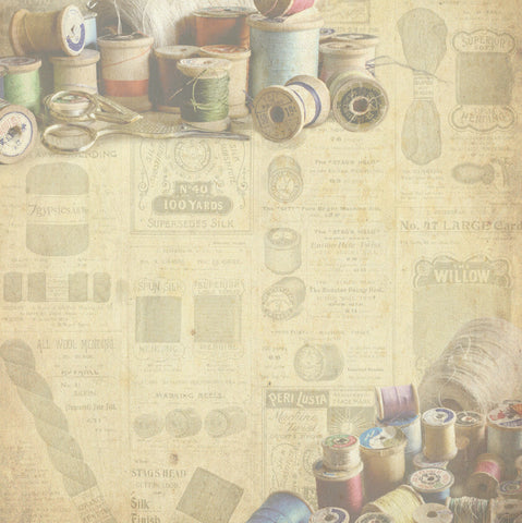 thread spook vintage paper