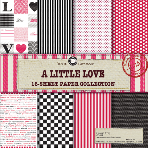 a little love paper pack canvas corp valentines paper wedding paper