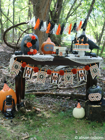 make your own Halloween party decor