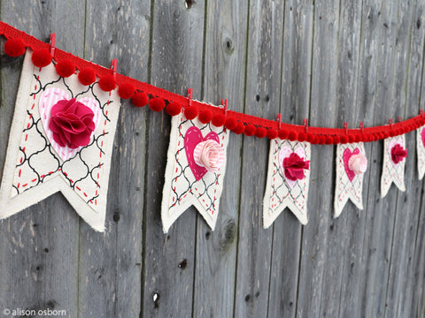 make your own holiday banner valentines easter christmas 4th july