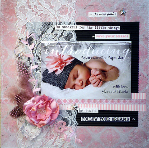 baby girl layout idea