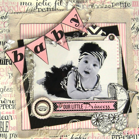 canvas corp baby girl paper
