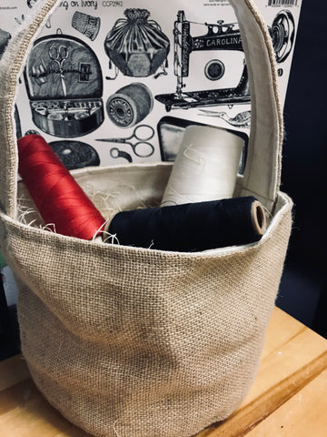 canvas gift storage basket