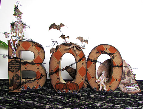 Boo Halloween DIY Decor