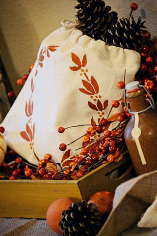 holiday and fall stencil print on canvas how to print on canvas