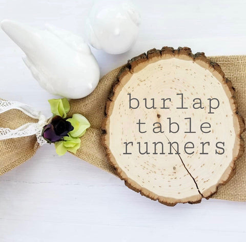 rustic burlap table runners for weddings and events wholesale