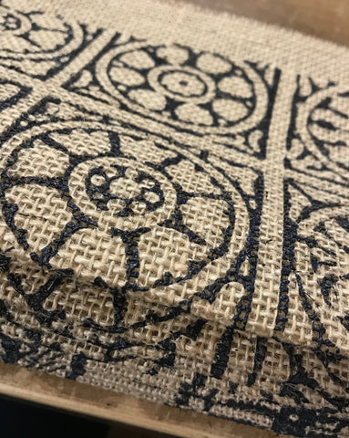 burlap printed fabric
