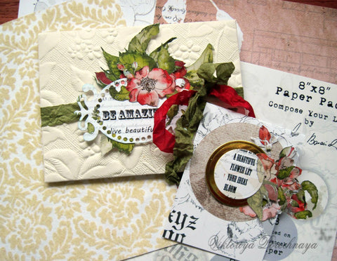 compose your life handmade paper