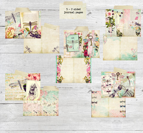 calico collage journal pages printed