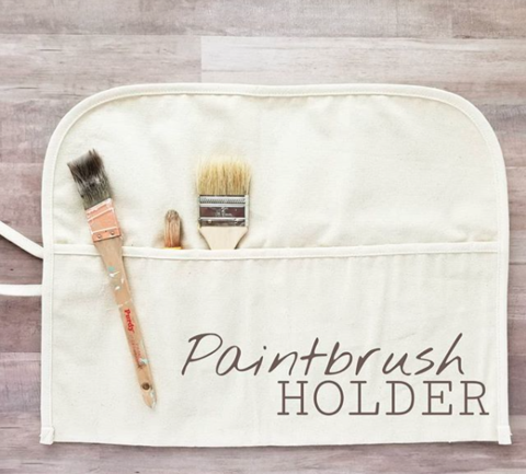 kitchen tool paint brush and gadget canvas holder