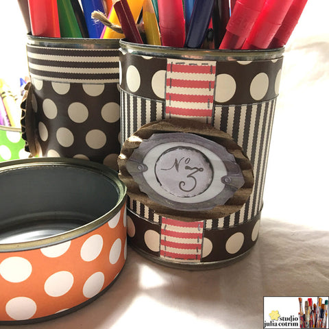 ideas for crafting with tin cans