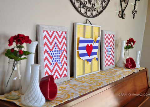 mantel ideas for 4th of July paper crafts