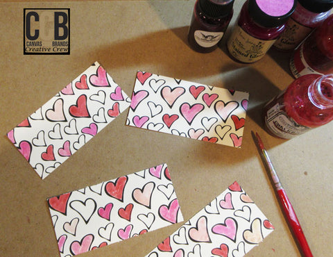 color in hearts paper