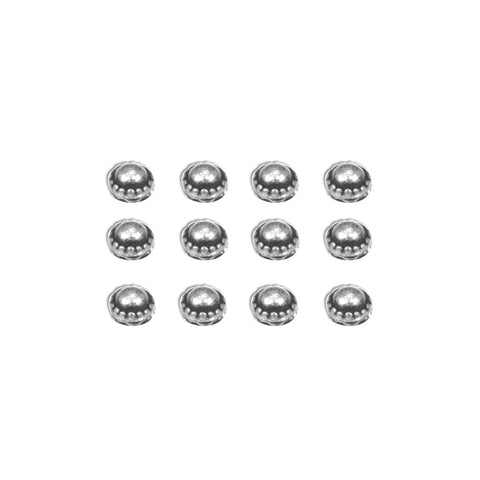 7gypsies Studs: Dome: Antique Silver