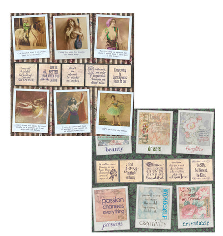 7gypsies Gypsy Moments: 12X12 Poses and Reflections Paper