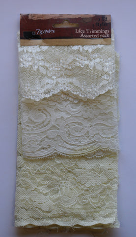 7gypsies Lace Trimmings Assorted Pack