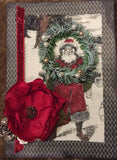 Fabric Panel - Farmhouse Christmas 13x17