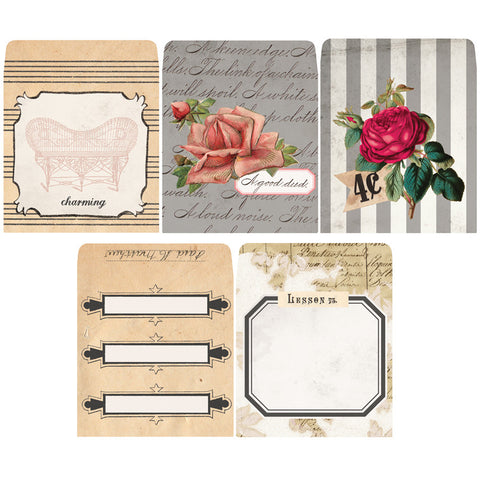 7gypsies Tag Envelopes: Charming (10 pieces)
