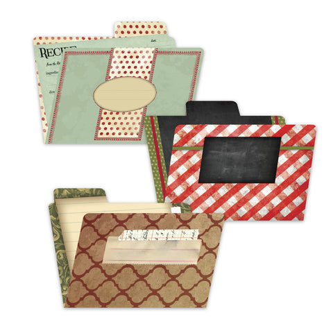 7gypsies 4x6 Printed File Folders - Recipe (6pcs)