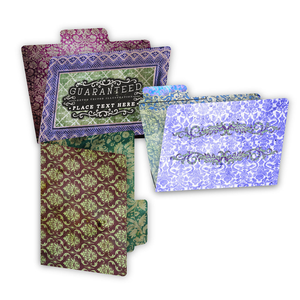 7gypsies ATC Printed File Folders - Vintage Frills