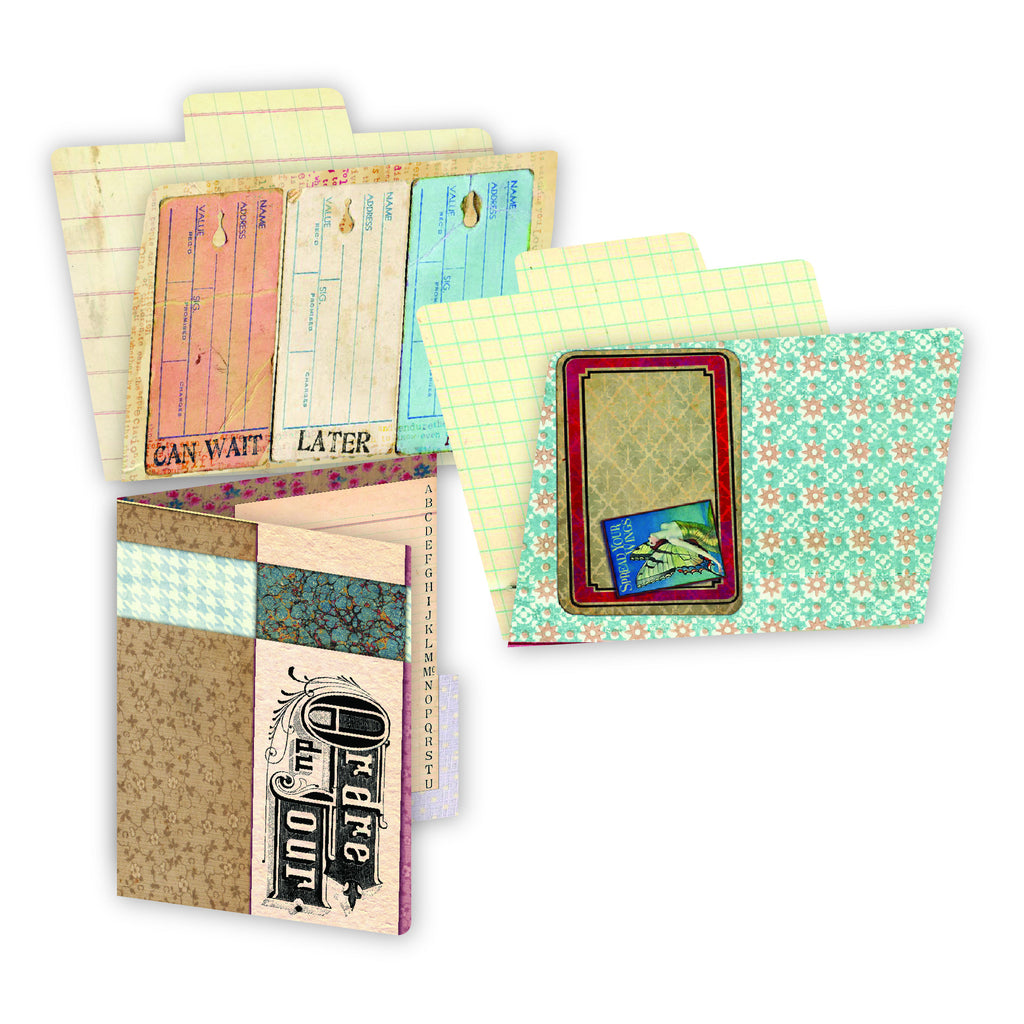 7gypsies ATC Printed File Folders - Ordre Du Jour