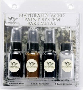 Naturally Aged Kit - Tarnished Silver (Bare Metal Faux Finish Paint Kit)