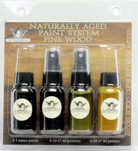 Naturally Aged Kit - Antique Hickory (Fine Wood Faux Finish Paint Kit)