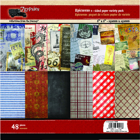 7gypsies Epicurean 6x6 Paper Pad (48 sheets)