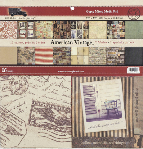 7gypsies Gypsy Mixed Media Pad - American Vintage