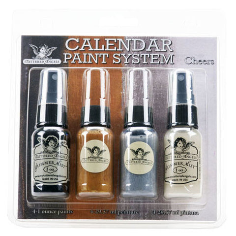 Tattered Angels Calendar Kit Paint System - Cheers