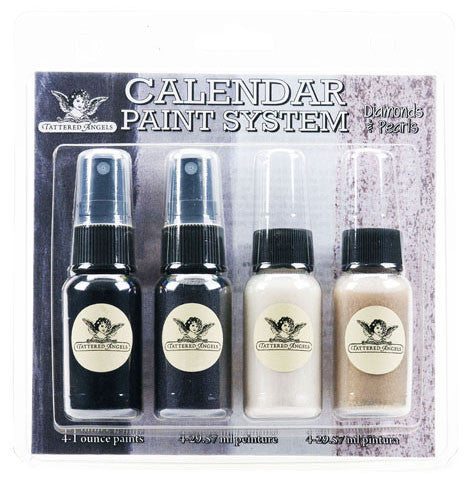 Tattered Angels Calendar Kit Paint System - Diamonds & Pearls