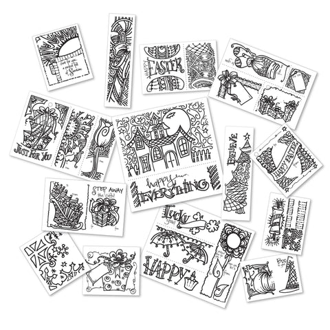 Tatteted Tangled Pack: Tags and Cards