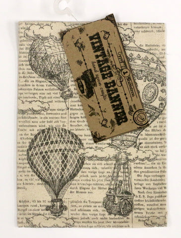7gypsies Vintage Canvas Banner - Hot Air Balloons