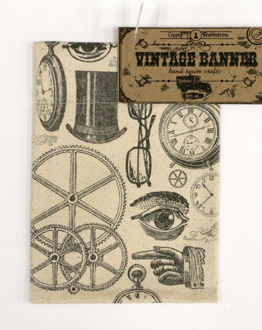 7gypsies Vintage Canvas Banner - Steampunk