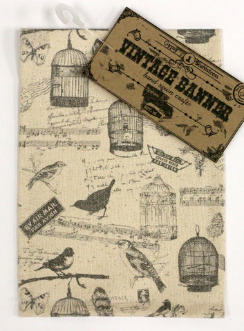 7gypsies Vintage Canvas Banner - Birds