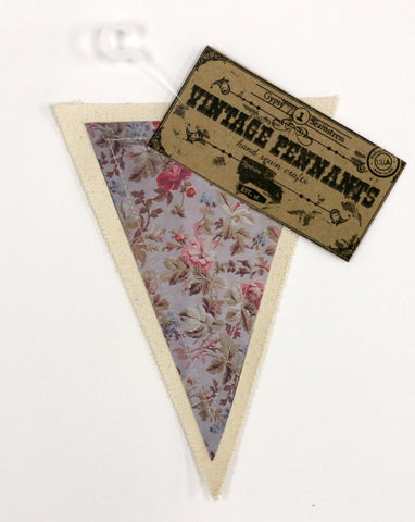 7gypsies Vintage Pennant - Tea Roses