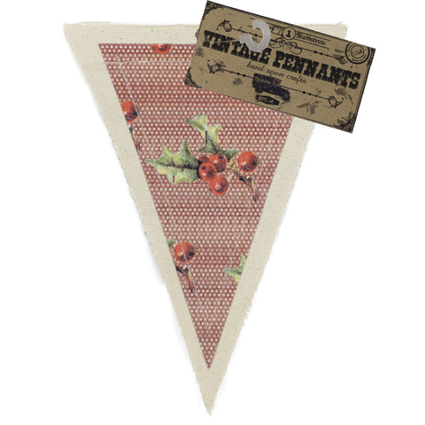 7gypsies Vintage Pennant - Holly Berries