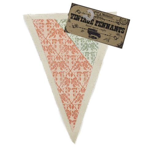 7gypsies Vintage Pennant - Green & Red Cloth