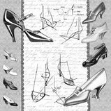 Mixed Media Origins - High Heels