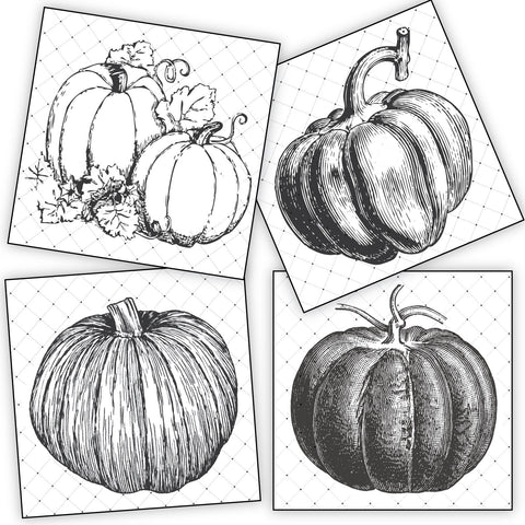 Mixed Media Origins Mini Art - Pumpkins