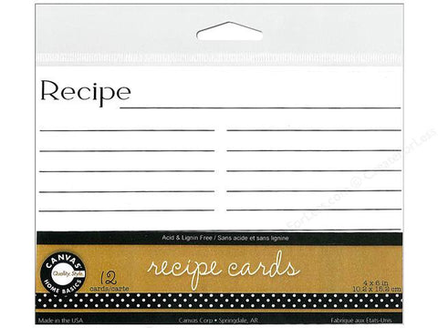 Recipe Cards White (12 pieces)