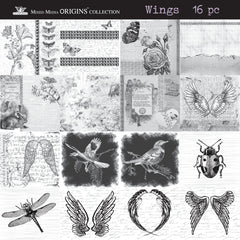 Mixed Media Mini Origins Art Collection - Wings